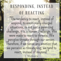 Responding, Instead of Reacting