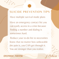 Personal Reflection on Suicide Prevention for Parents
